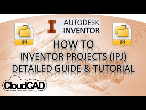 Detailed Project (IPJ) Guide & Tutorial | Autodesk Inventor