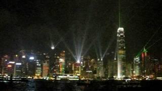 Laser show of HongKong