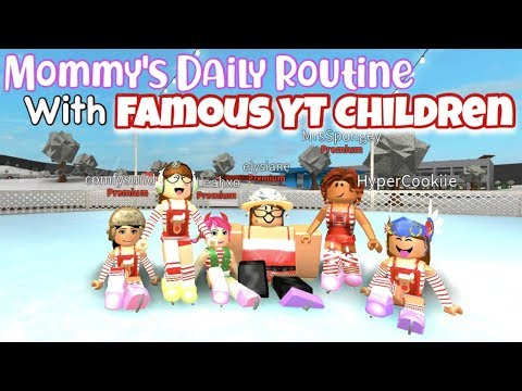 Mommys Daily Routine With Famous YT Children l Roblox