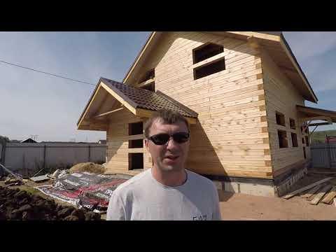 Дом из бруса, построенная коробка 8х10 м. Плюсы и минусы дома из сырого бруса.