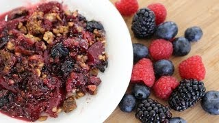 The Busy Chef's Plum And Berry Crisp