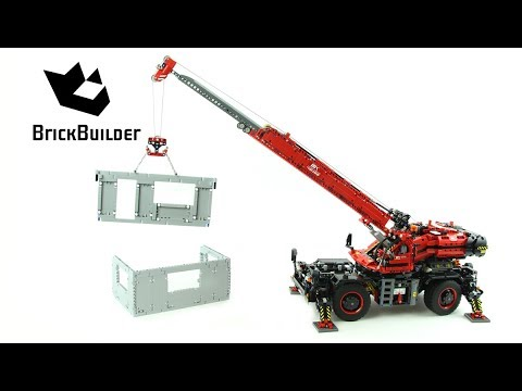 Lego Technic 42082 Rough Terrain Crane - Lego Speed Build
