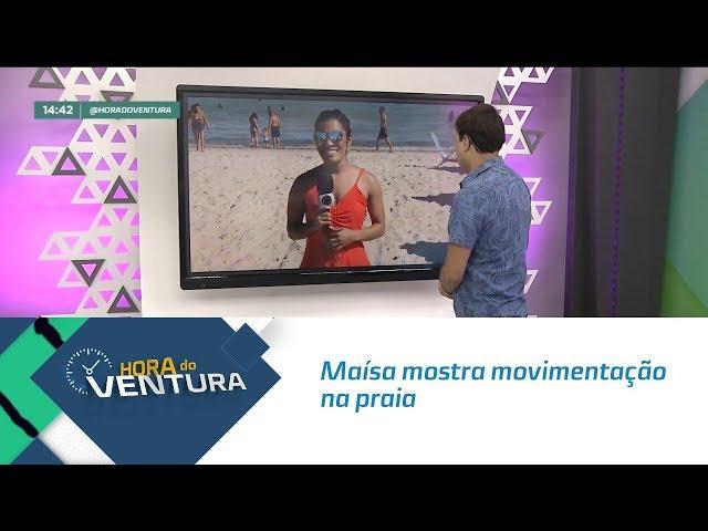 Maísa mostra movimentação na praia  - Bloco 02