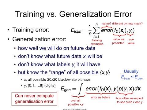 IAML8.5 Generalization error