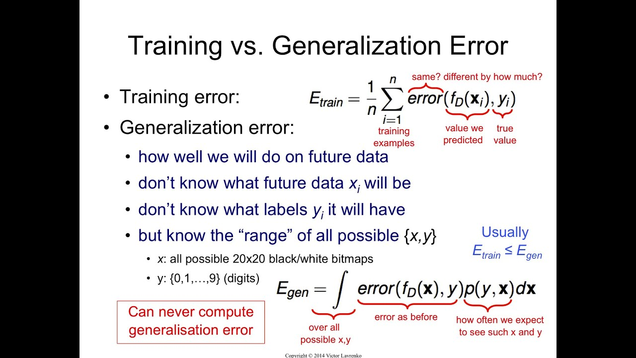 IAML8 5 Generalization error
