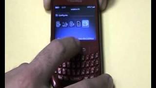 Creación de una cuenta de correo electrónico con BlackBerry