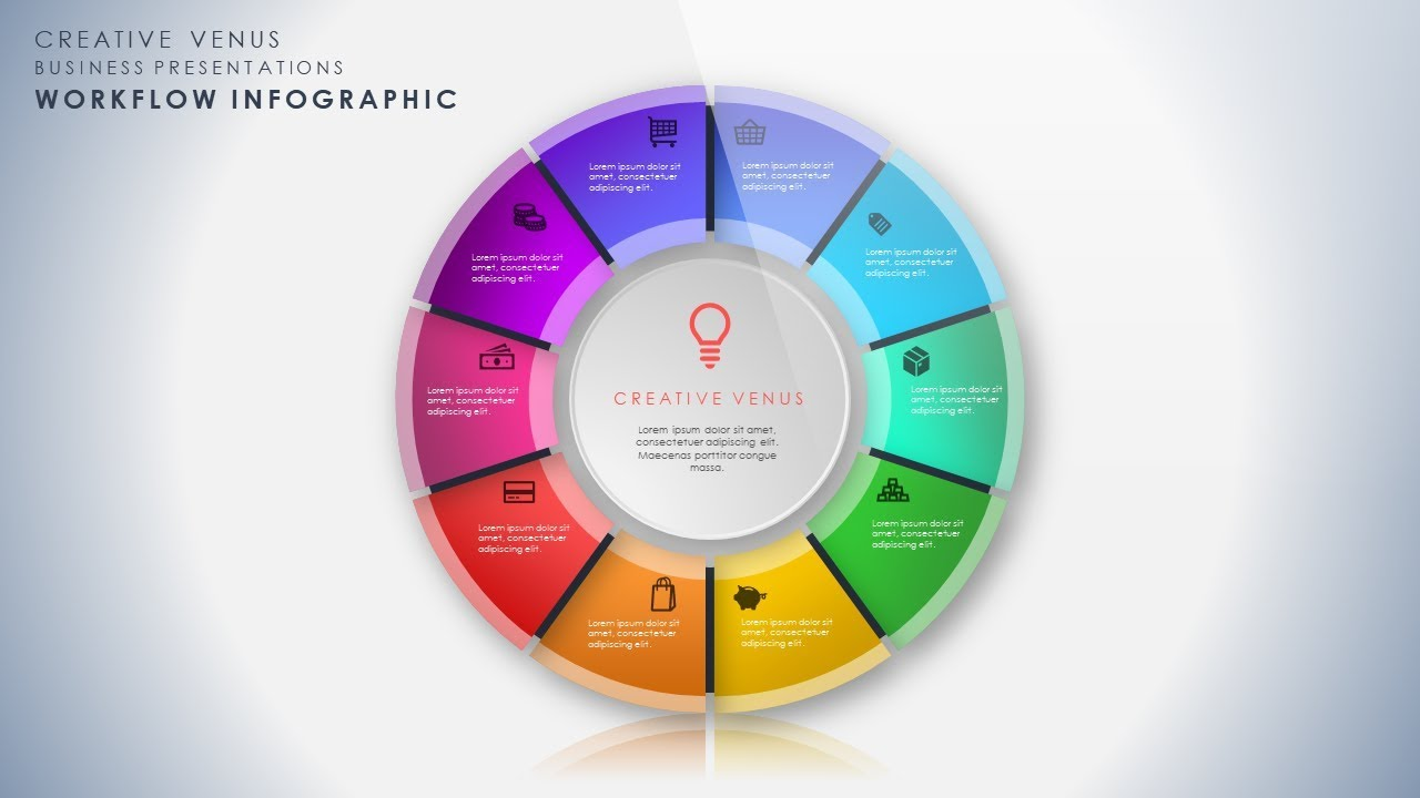 How To Design Beautiful Workflow Process Infographic in