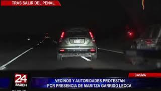 Casma: vecinos protestan por presencia de Maritza Garrido Lecca