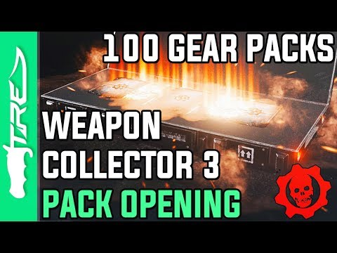 HUNTING LEGENDARY COMMANDO DOM! - Gears of War 4 Gear Packs Opening - 100 WEAPON COLLECTOR 3 PACKS