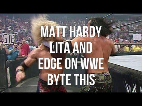 Matt Hardy Lita And Edge On Wwe Byte This