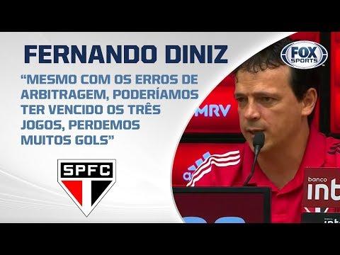 TRICOLOR AO VIVO Fernando Diniz analisa empate no Clássico Majestoso