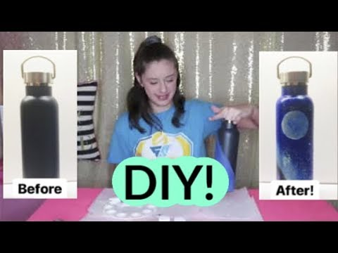 EASY DIY: HOW TO PAINT A  WATER BOTTLE OR HYDRO FLASK! (GALAXY)