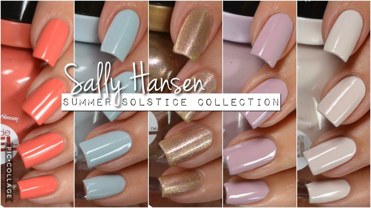 Swatches || Sally Hansen Summer Solstice | Rikki's Nails