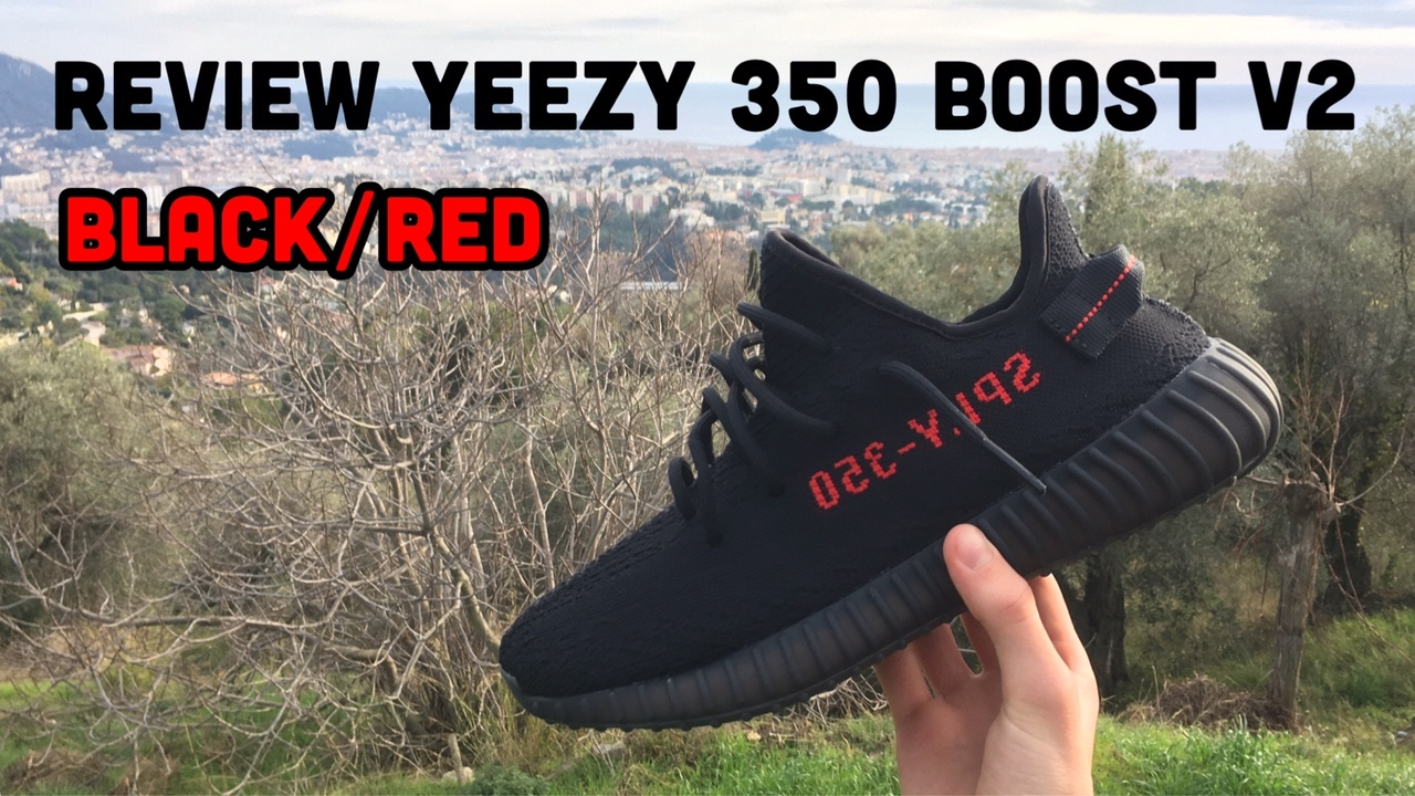 Review Yeezy 350 Boost v2 Black Red
