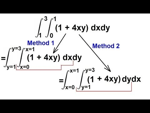 Calculus - Integration: Double Integrals (3 of 9) Example 2: Order of Integration: (1+4xy)dxdy