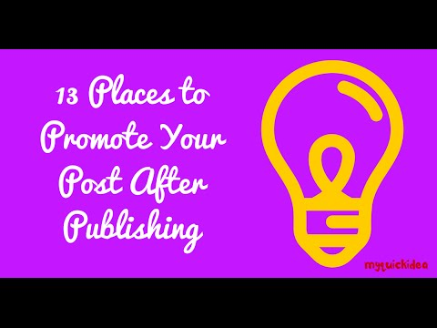 13 Places to Promote Your Post After Publishing in Hindi/Urdu