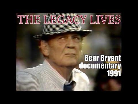 Bear Bryant Documentary 1991 - The Legacy Lives (VHS)