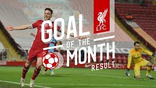 قذيفة صلاح في إيفرتون تجلب له جائزة هدف الشهر في ليفربول