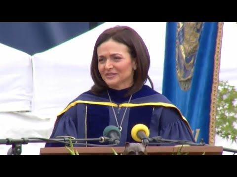 Full Sheryl Sandberg emotional commencement speech