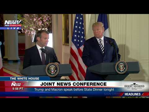 FULL: President Trump - French President Macron Joint News Conference