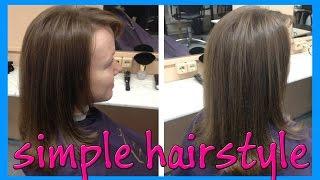 """simple hairstyle for long hair (простая стрижка для длинных волос """"Рапсодия"""")"""