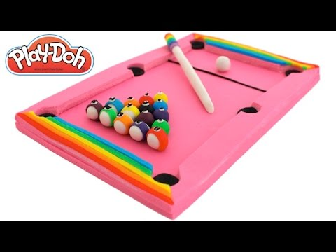 Play Doh How To Make A Pink Pool Table * Play Dough Art * Fun Creative For  Kids * RainbowLearning   YouTube