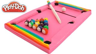 Play-Doh How to Make a Pink Pool Table * Play Dough Art * Fun Creative For Kids * RainbowLearning