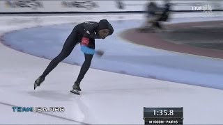 Shani Davis Right On Track | 2014 U.S. Olympic Trials Speedskating