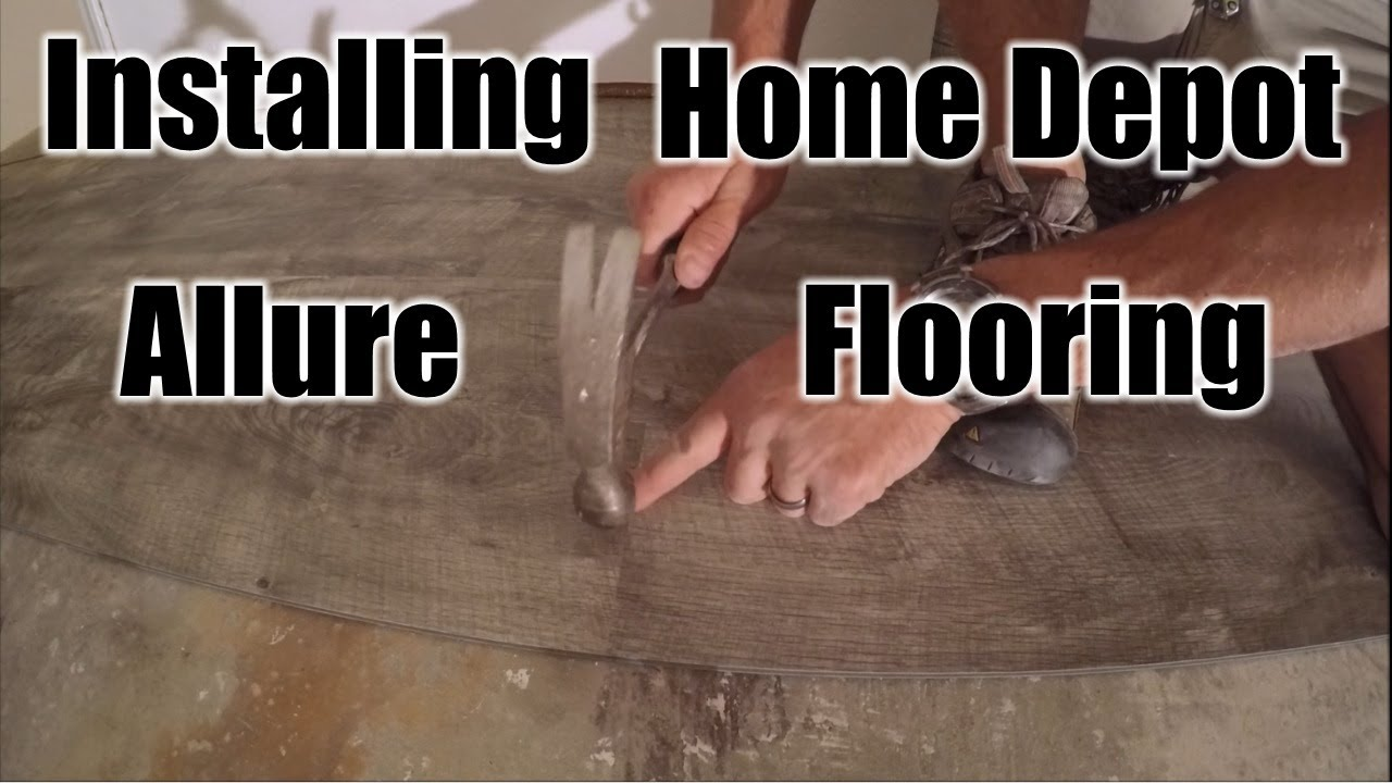 How To Install Home Depot Allure Flooring THE HANDYMAN YouTube - Allure flooring customer service phone number
