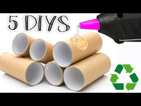 5 DIYS RECYCLING TOILET PAPER ROLLS OR KITCHEN PAPER ROLLS