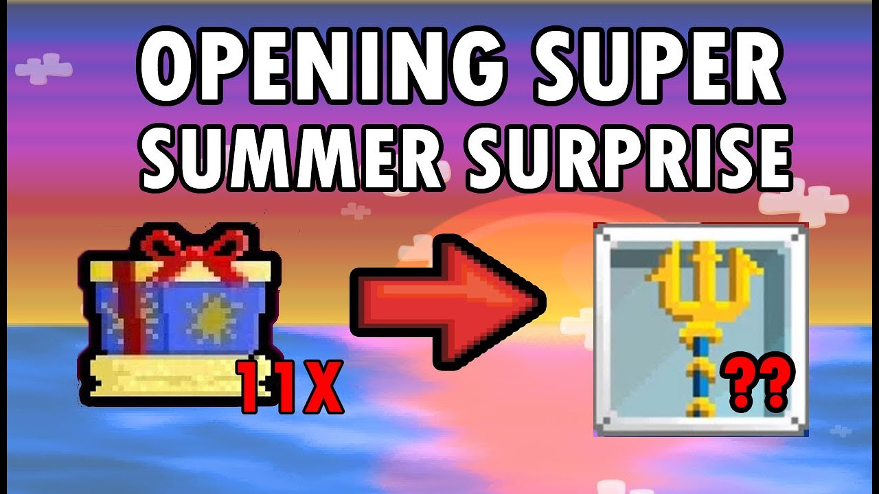 USING SUPER SUMMER SURPRISE AFTER ROLLBACK! GOT TRIDENT? | Growtopia