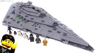 Baixar LEGO Star Wars First Order Star Destroyer review! 75190