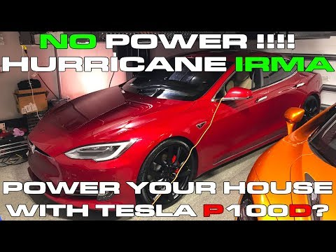 Using Camper Mode in the Tesla Model S P100D to Power House during Hurricane Irma Power Outages?