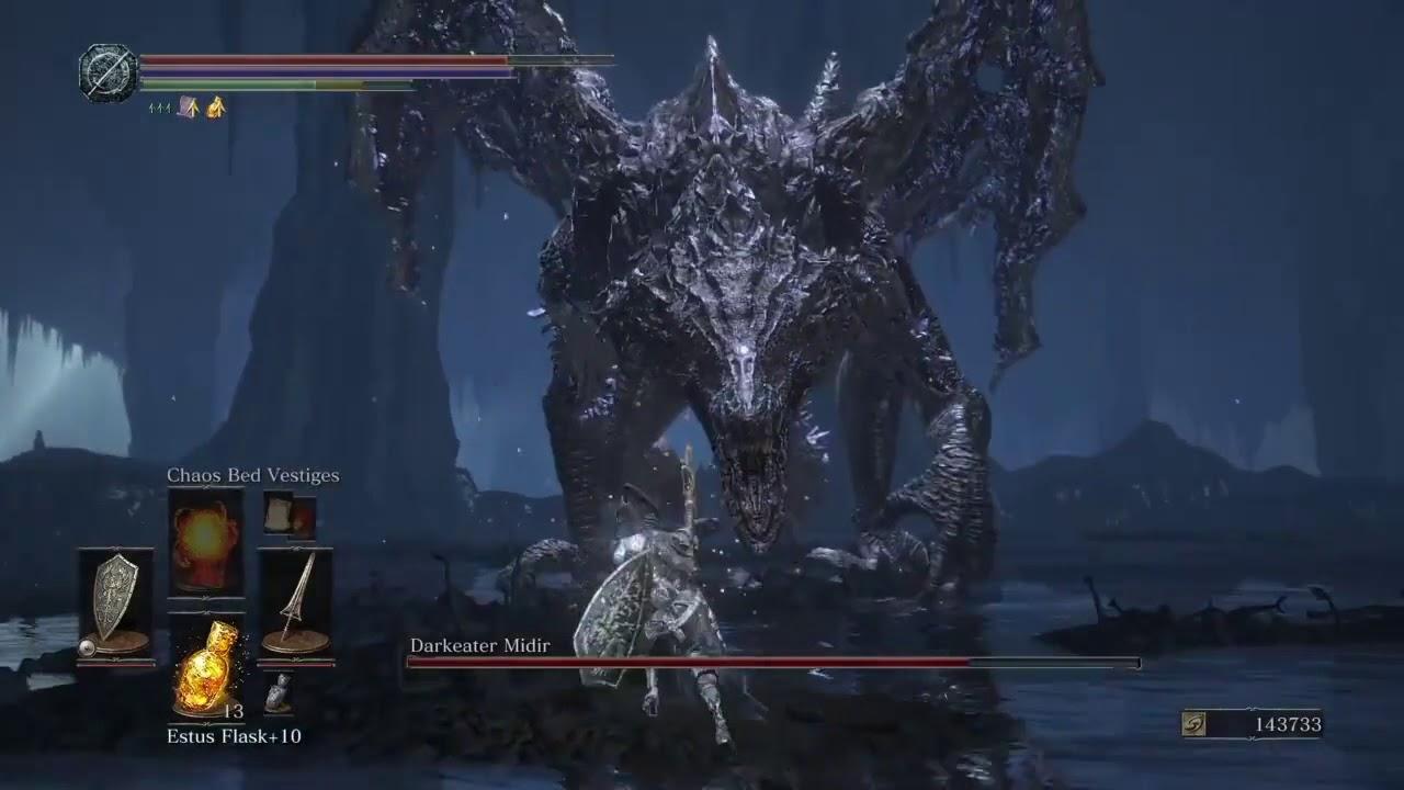 Dark souls 3 Darkeater Midir boss fight