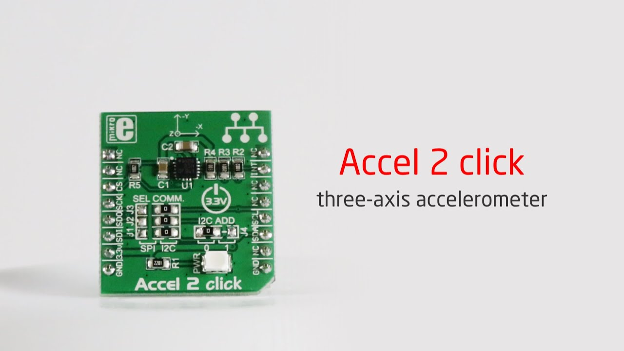 accel 2 click — board with LIS3DSH 3-axis accelerometer