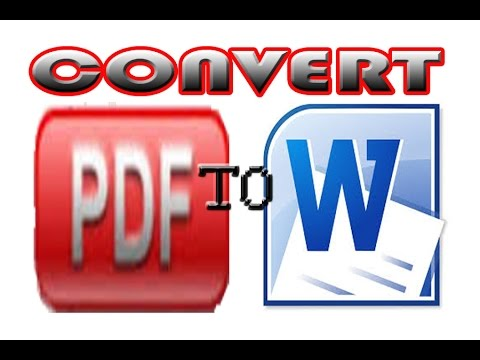 How To Convert PDF to Word Document from YouTube · Duration:  2 minutes 17 seconds  · 393,000+ views · uploaded on 9/21/2014 · uploaded by ProgrammingKnowledge2