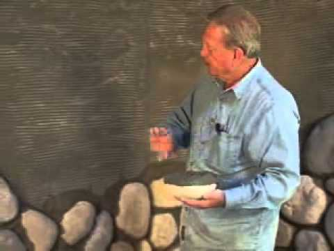 Cultured stone river rock fire wall hearth youtube solutioingenieria Choice Image