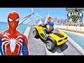 CARROS Blazer Aqua com Homem Aranha e Heróis! Desafio na Rampa - GTA V Mods - IR GAMES