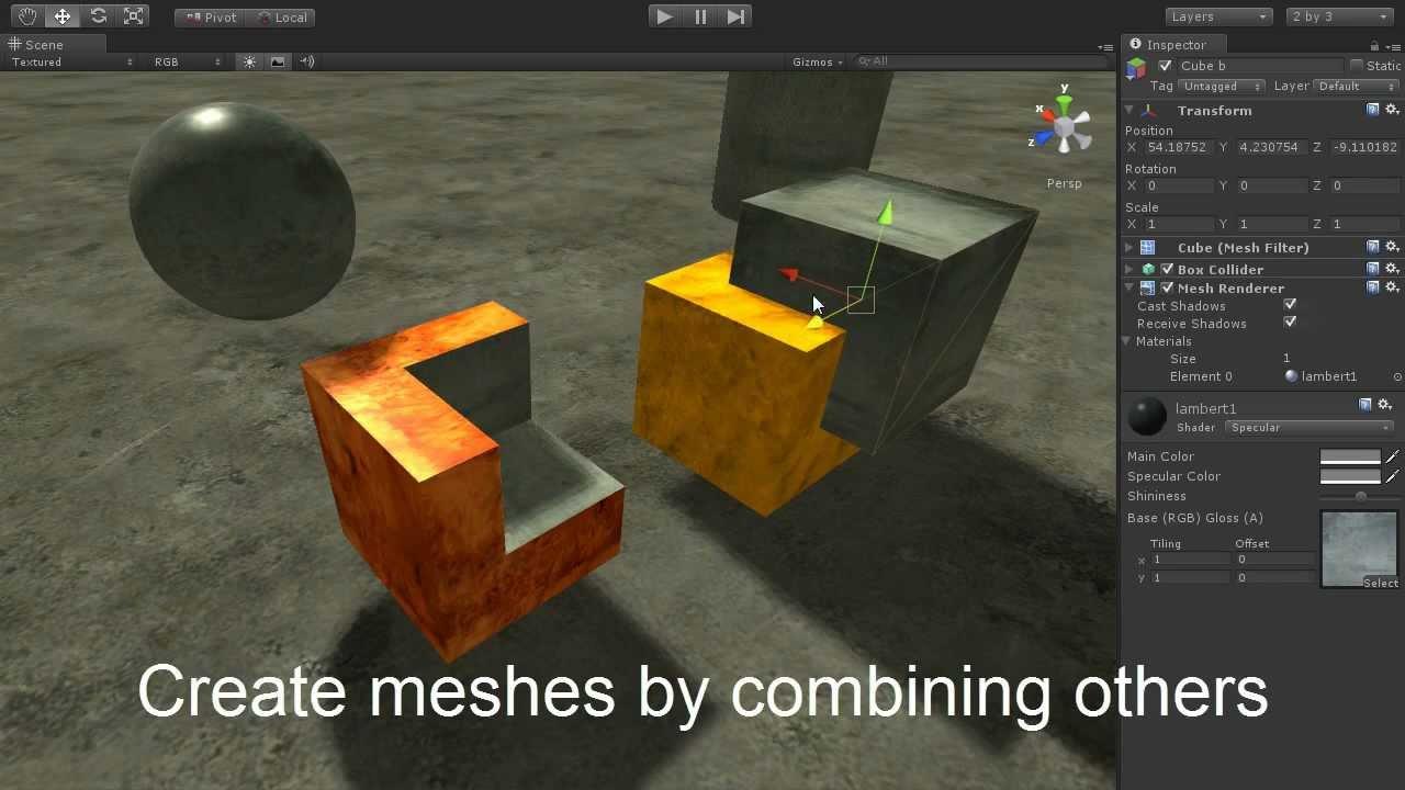 MegaMesh for Unity3D Boolean feature
