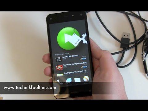 Amazon Fire Phone einrichten und erster Eindruck