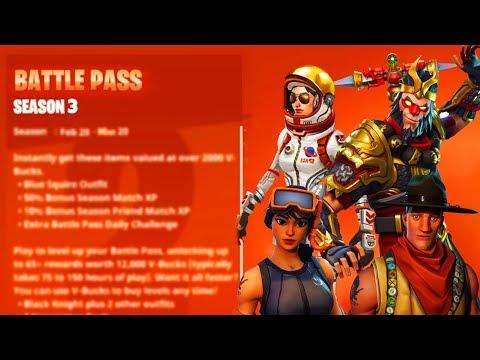 NEW Season 3 BATTLE PASS Info LEAKED! (Fortnite Battle Royale)
