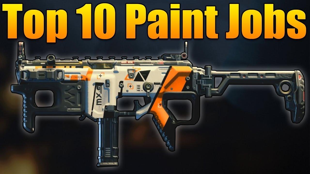 top 10 paint jobs in black ops 4  bo4 best camos