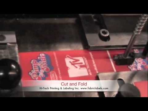 Video of Manufacturing Fabric Labels