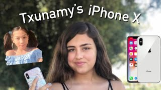REVIEWING TXUNAMY'S IPHONE X I WON! (Samantha Noelle)
