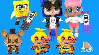 ФНАФ Мультик Куклы Лол Превращение в Аниматроников FNAF Видео для детей Игрушки с My Toys Potap