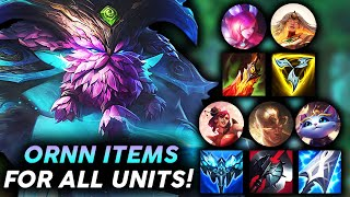 ORNN ITEMS ON KAYLE + FRIENDS IS BUSTED!! | Teamfight Tactics