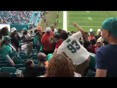 Fan Fight Miami Dolphins vs San Francisco 49ers November 2016
