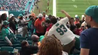 Fan Fight Miami Dolphins vs San Francisco 49ers November 2016