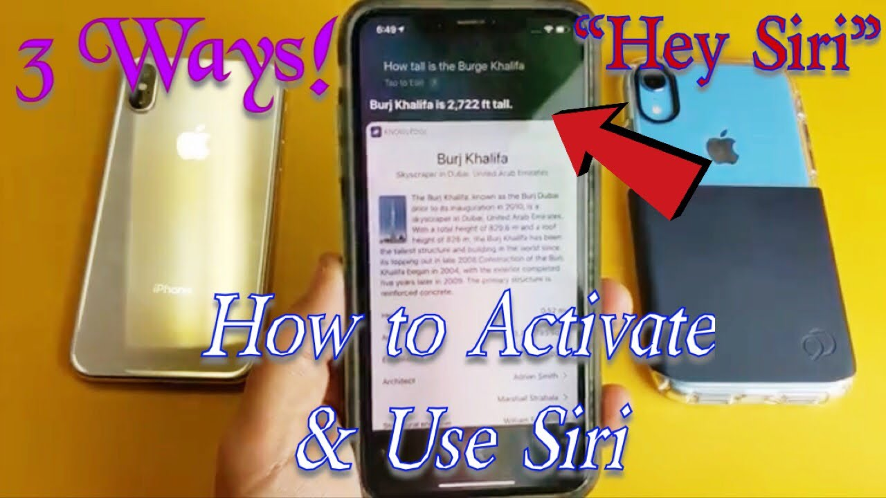 iPhone X/XS/XR: How to Activate & Use Hey Siri (3 Ways)