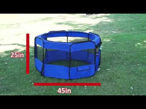 portable-foldable-playpen-pet-dog-crate-room-puppy-exercise-kennel